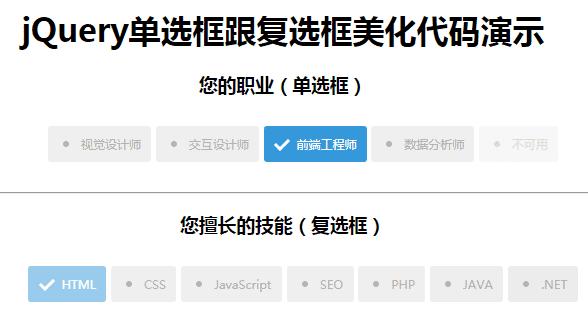纯css3替换CheckBox复选框和radio单选框的默认样式