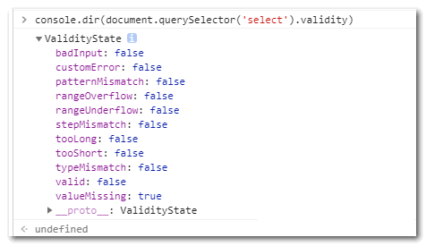 checkValidity等form原生JS验证方法和属性详细介绍