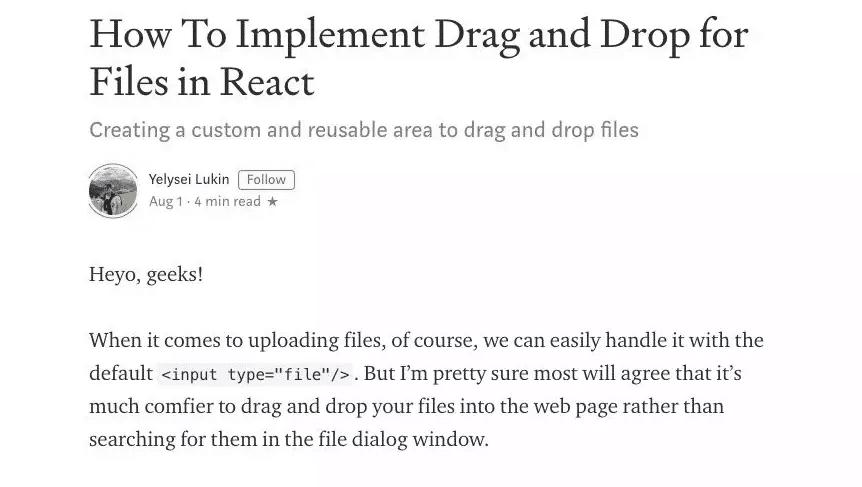实现一个交互完整的拖拽上传组件 仅需120行代码