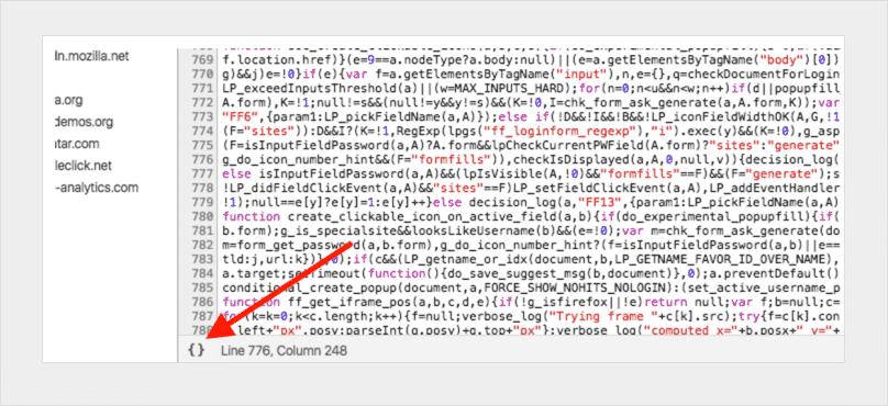 将代码格式化后再调试JavaScript