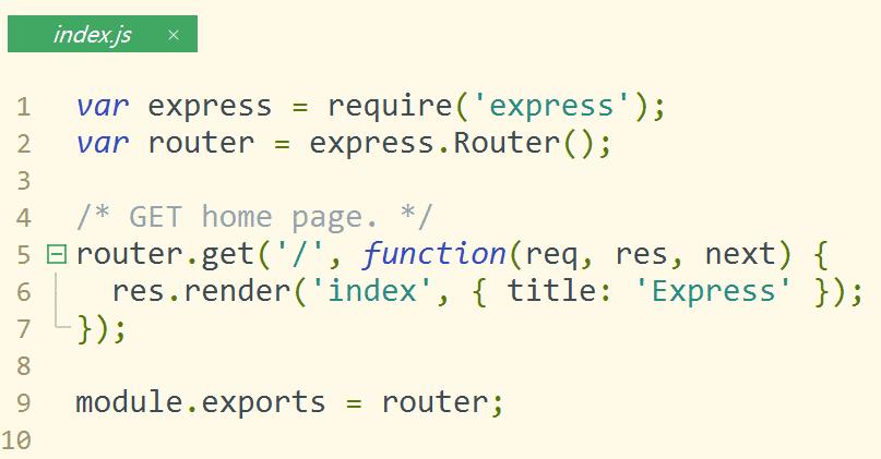routes下的index.js