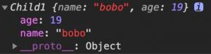 构造函数实现继承
