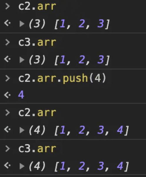 c2.arr.push(4)
