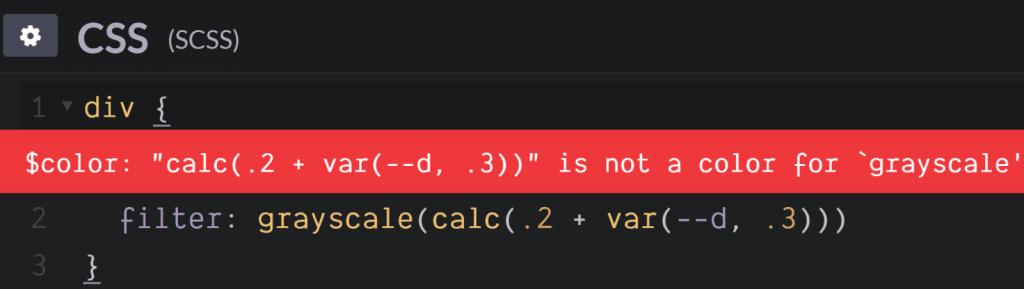 calc()在filter: grayscale()错误