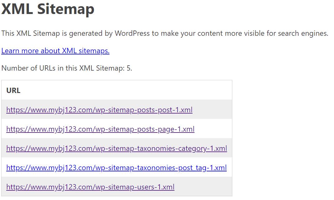 XML站点地图
