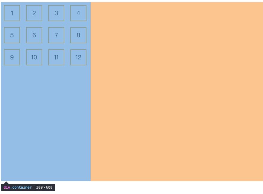 flex-start:轴线全部在交叉轴上的起点对齐