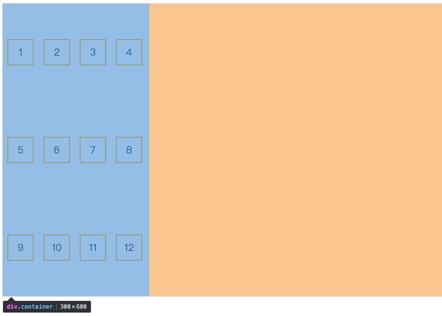 space-around:每个轴线两侧的间隔相等