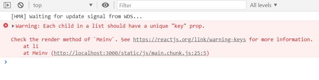 解决key值错误