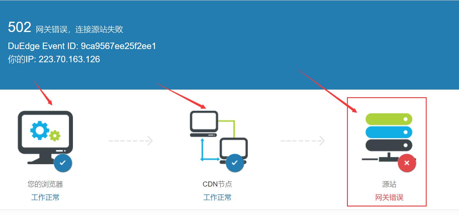 如何解决百度云加速提示 源站返回502(bad gateway)错误方法