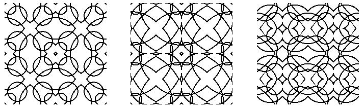 各式各样的剪纸对称图形