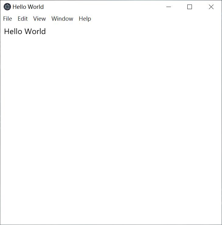 Electron编写一个Hello World程序