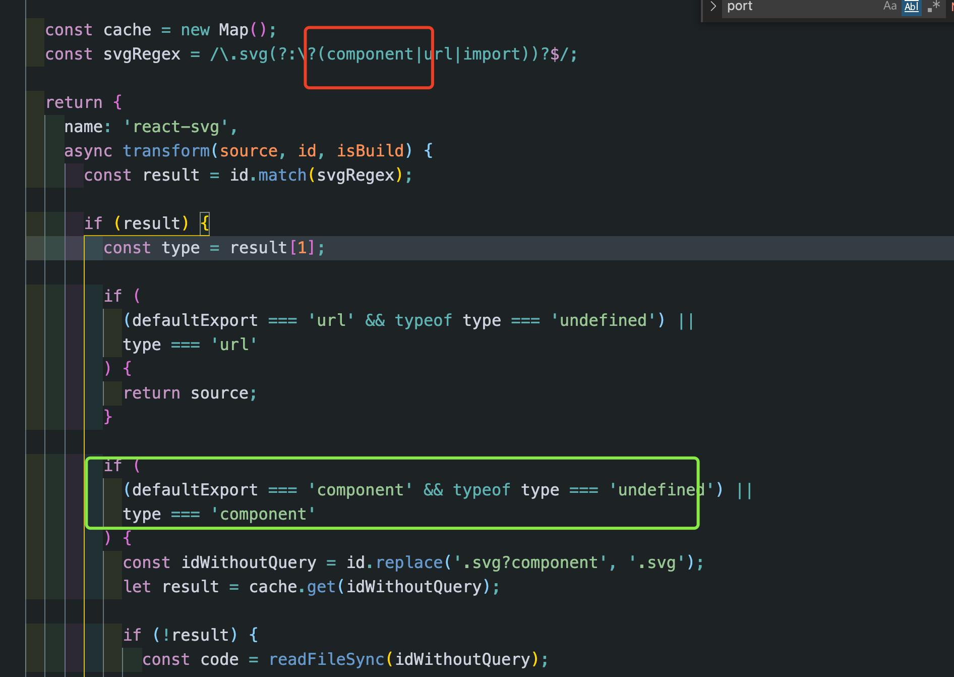 引入的 svg 文件需要加 ?component 作为后缀