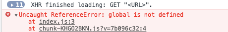 6. global 未定义
