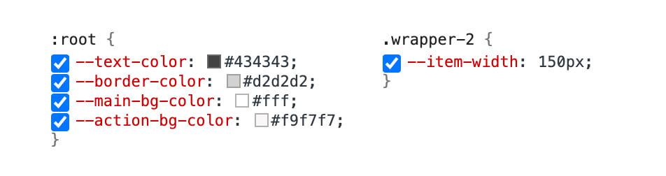 禁用CSS变量