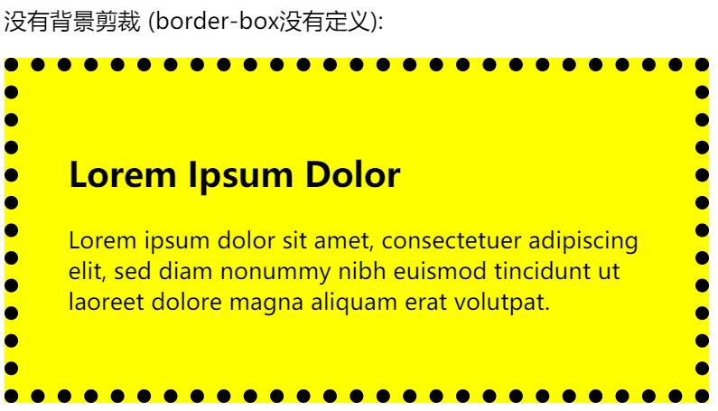 CSS3 background-clip 属性