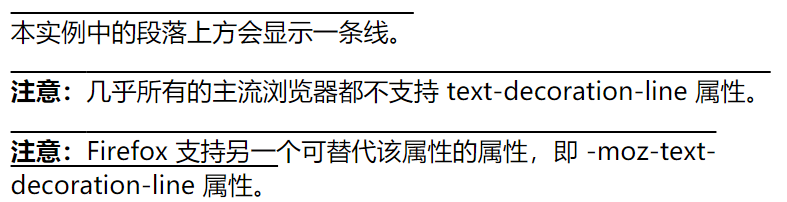 CSS text-decoration-line 属性