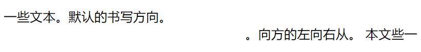 CSS unicode-bidi 属性