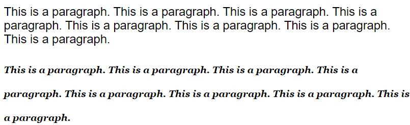 CSS font 属性