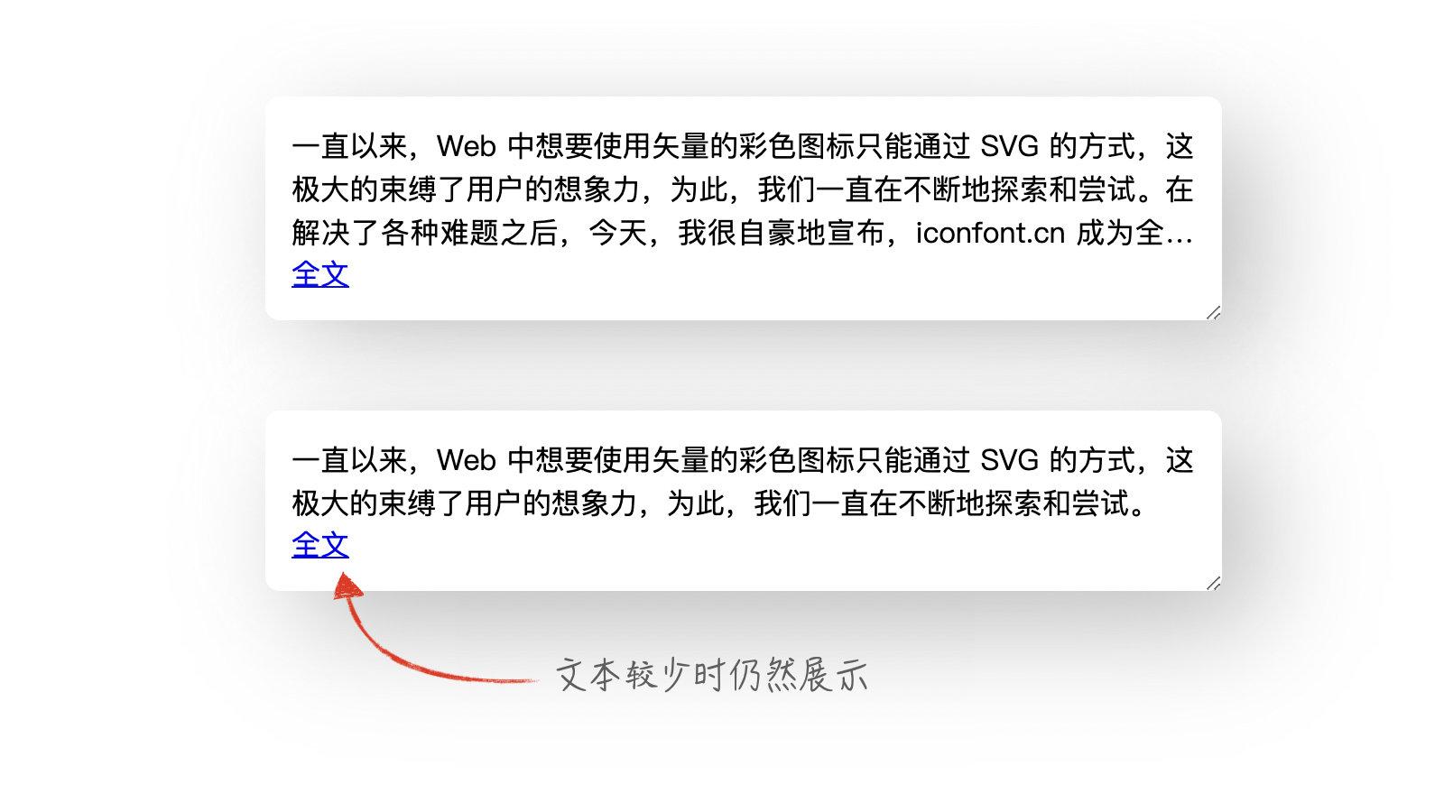 "CSS 自动显示""全文""链接"