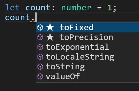 使用number类型上所有的属性和方法