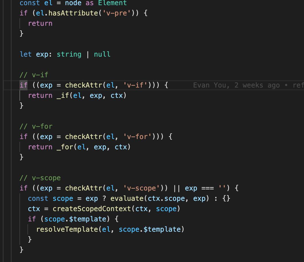 如果是一个element节点,就要处理不同的指令