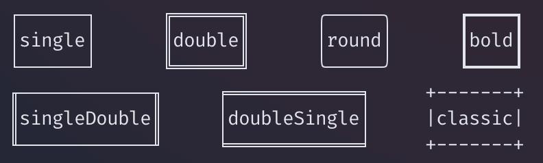 边框的样式:borderStyle