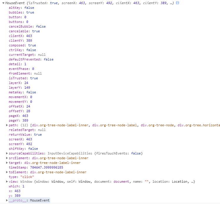 添加一个方法 on-node-click