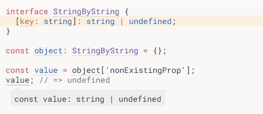 TypeScript就会意识到你访问的属性可能不存在